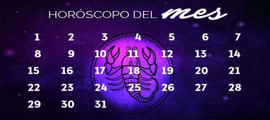 Horóscopo Escorpio Mensual – Horóscopo del mes Escorpio