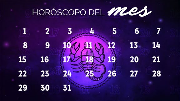 Horóscopo Escorpio mensual- escorpiohoroscopo.com